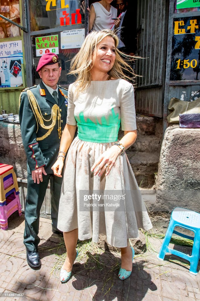 Queen Maxima Of The Netherlands Visits Ethiopia: Day Two : News Photo