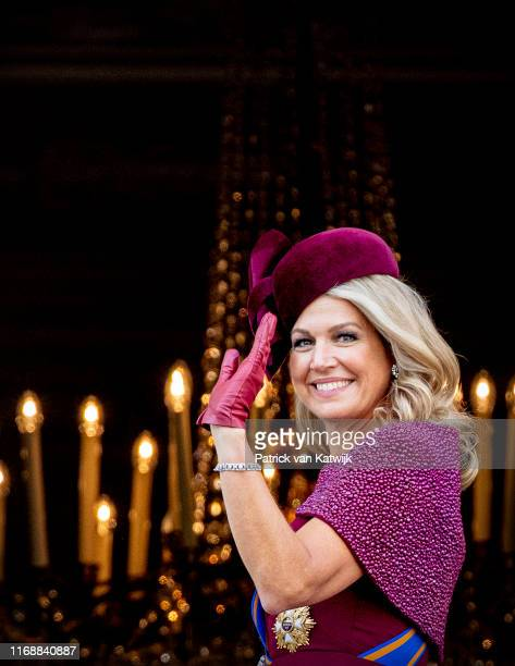 Queen Maxima of The Netherlands during Prinsjesdag, the opening of the parliamentary year, on September 17, 2019 in The Hague, Netherlands.