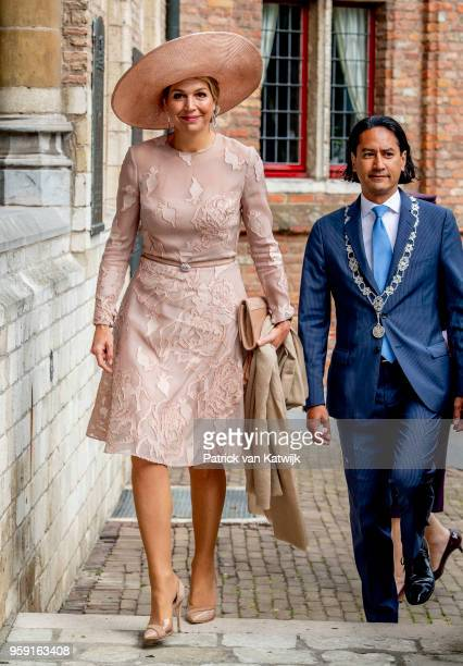 Queen Maxima of The Netherlands during the award ceremony of the Four Freedom Award on May 16, 2018 in Middelburg, Netherlands.