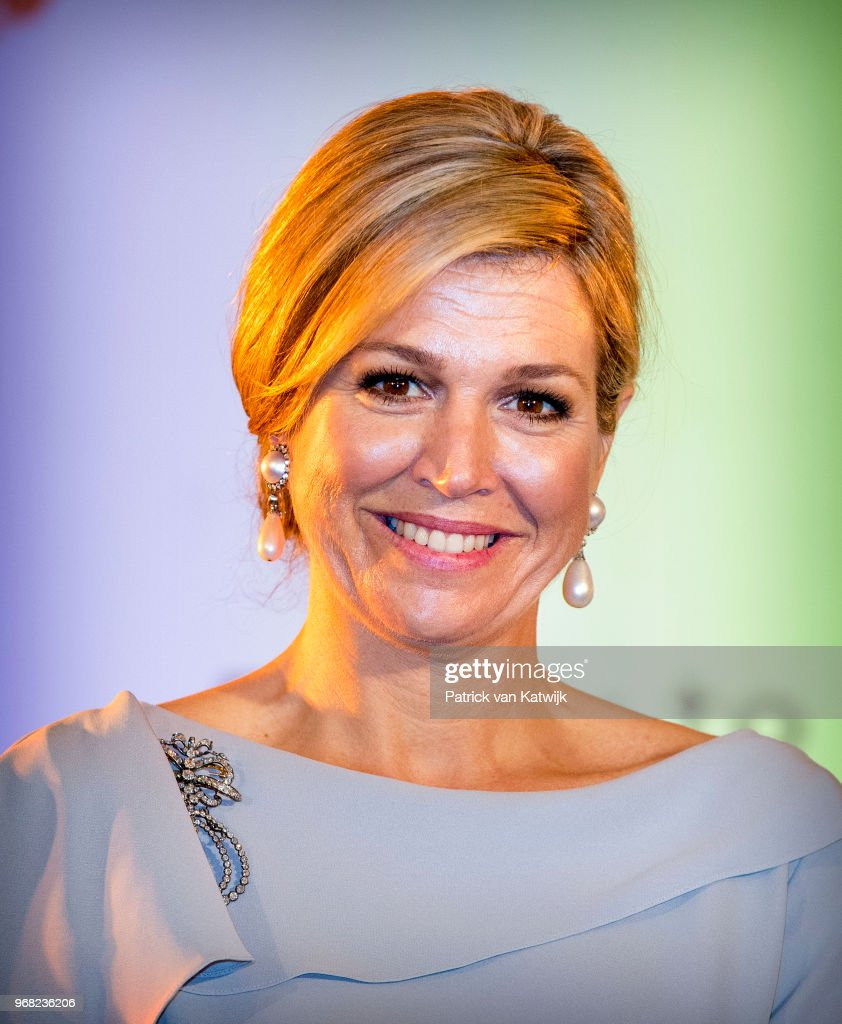 Queen Maxima of The Netherlands during the award ceremony of the Appeltjes van Oranje for social projects on June 6, 2018 in The Hague, Netherlands. Queen Maxima is patroness of the Oranje Foundation that organizes the Appeltjes van Oranje award.