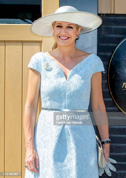 Queen Maxima of The Netherlands during the opening of No Limits horse stables that gives therapeutic riding lessons on June 25 2019 in Noordwijk aan...
