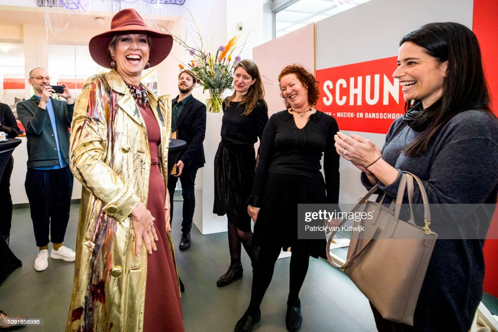 "NLD: Queen Máxima Opens ""Basquiat The Artist"" Exhibition In Heerlen"