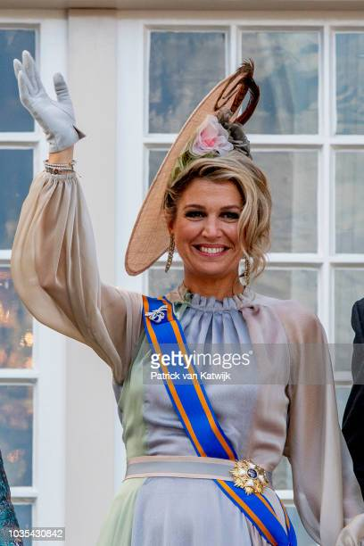 Queen Maxima of The Netherlands during the opening of the parliament year Prinsjesdag on September 18 2018 in The Hague The Netherlands