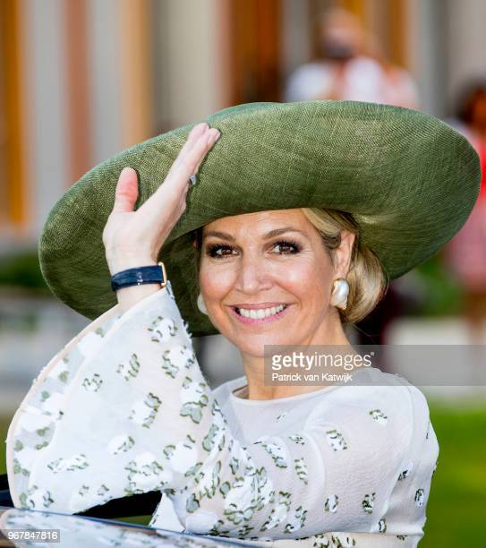 Queen Maxima of The Netherlands during the opening of the Princess Maxima center for Pediatrix Oncology on June 5, 2018 in Utrecht, Netherlands. The...
