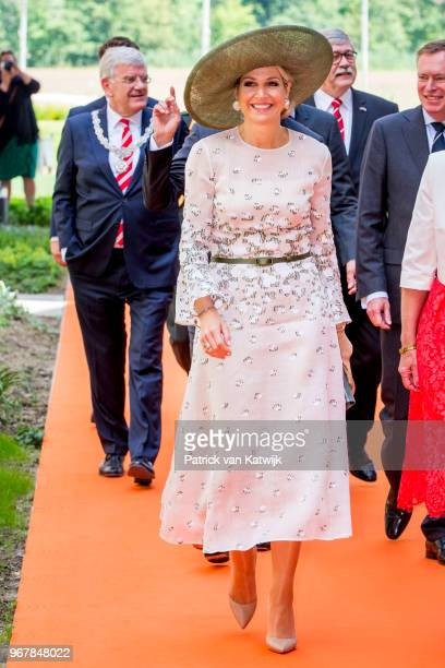 Queen Maxima of The Netherlands during the opening of the Princess Maxima center for Pediatrix Oncology on June 5 2018 in Utrecht Netherlands The...
