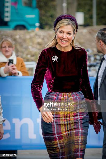 Queen Maxima of The Netherlands during the opening of the World Horti center the international knowledge and innovation center for greenhouse...