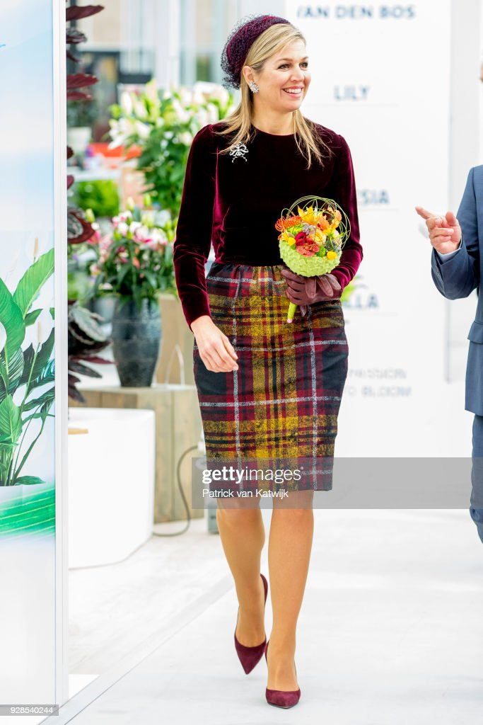 Queen Maxima Opens Horti Center In Naaldwijk : News Photo