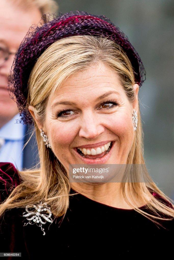 Queen Maxima Opens Horti Center In Naaldwijk : News Photo