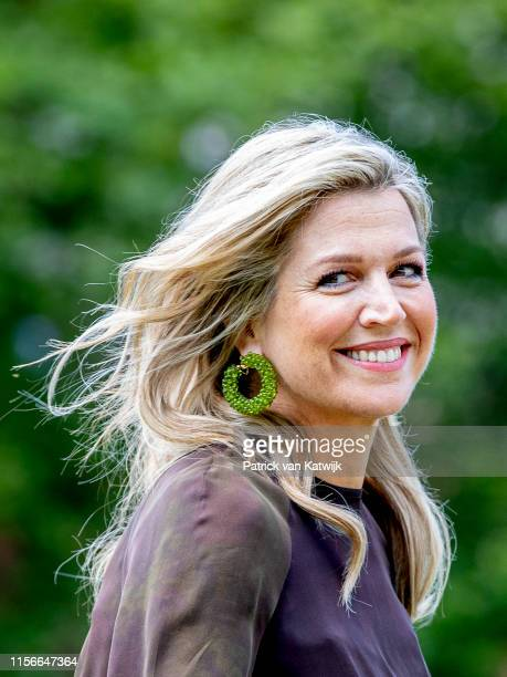 Queen Maxima of The Netherlands during their annual summer photo session at Huis ten Bosch Palace on July 19 2019 in The Hague Netherlands