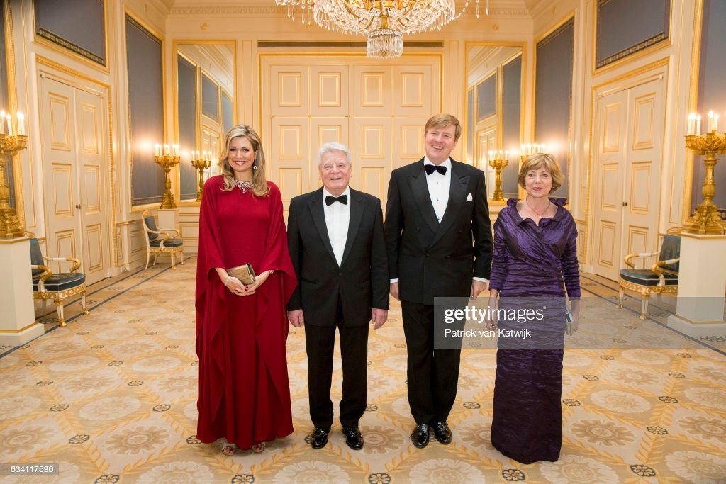 King Willem-Alexander and Queen Maxima host Dinner for German President Gauck