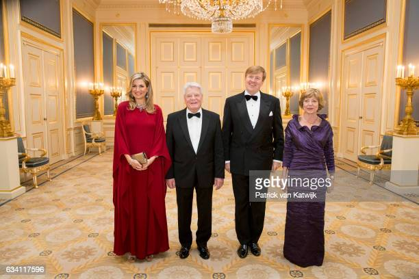 Queen Maxima of the Netherlands, German President Joachim Gauck, King Willem-Alexander of the Netherlands and German President's partner Daniela...