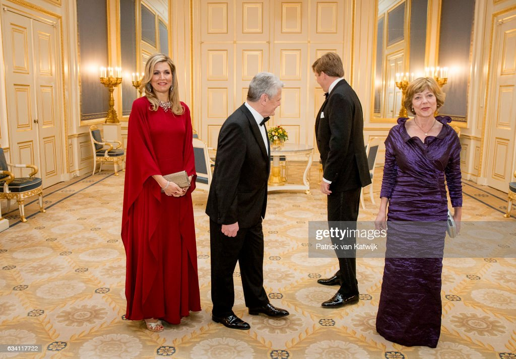 King Willem-Alexander and Queen Maxima host Dinner for German President Gauck : News Photo