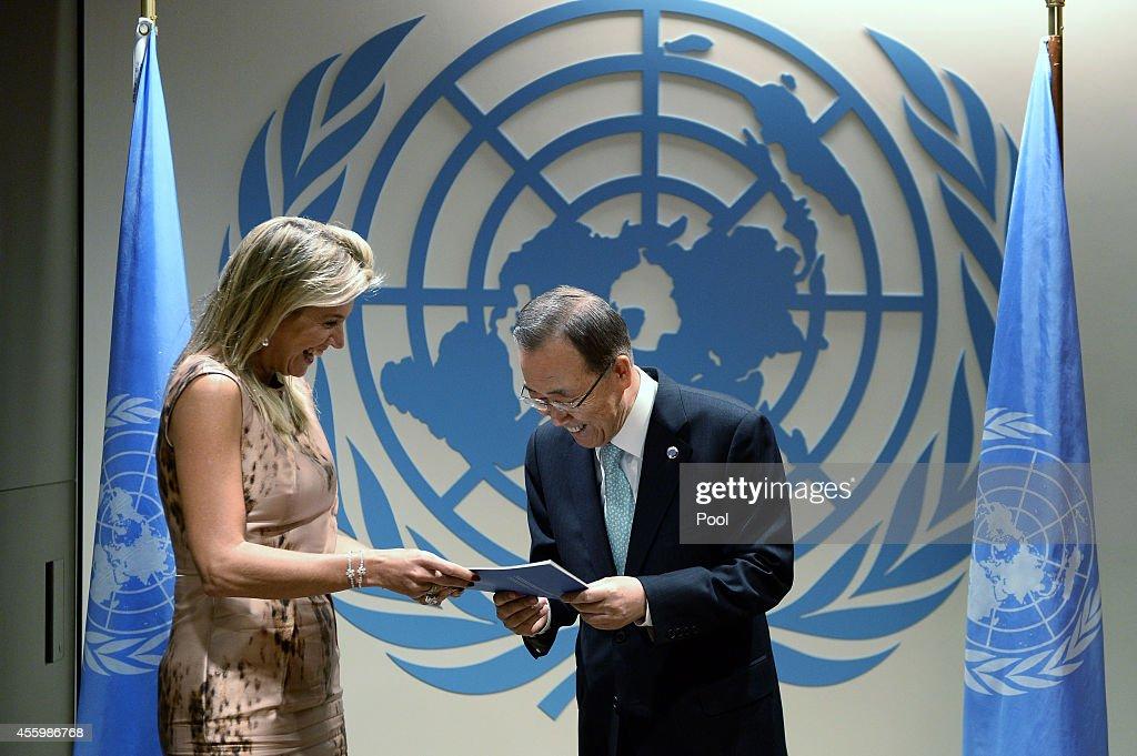 Ban Ki-moon Meets With Dutch Leaders : News Photo