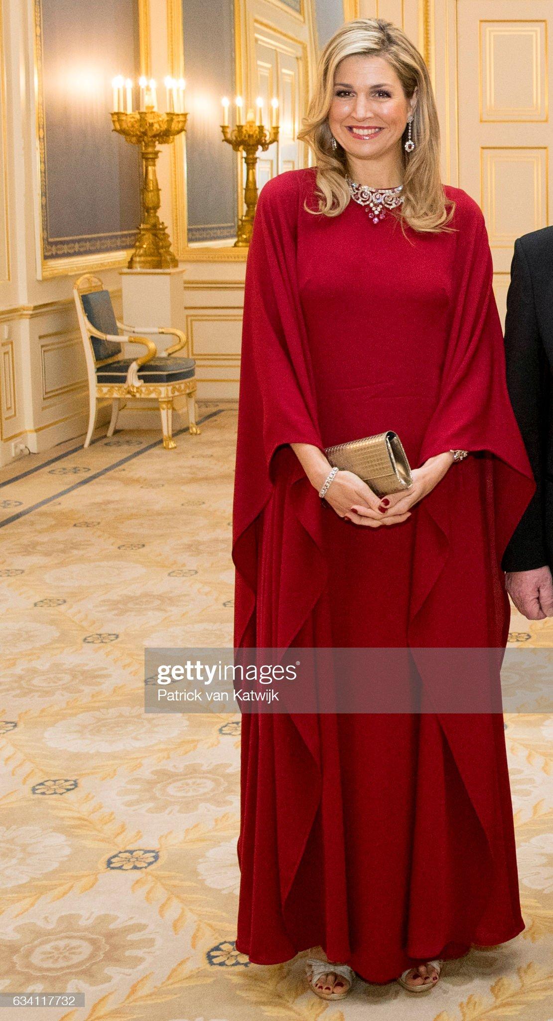 King Willem-Alexander and Queen Maxima host Dinner for German President Gauck : News Photo