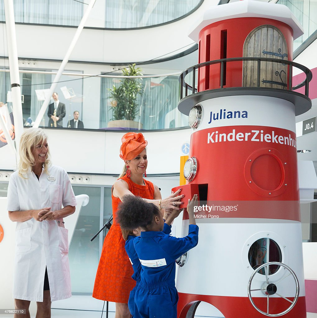 Queen Maxima Of The Netherlands Opens The Juliana Children's Hospital : News Photo