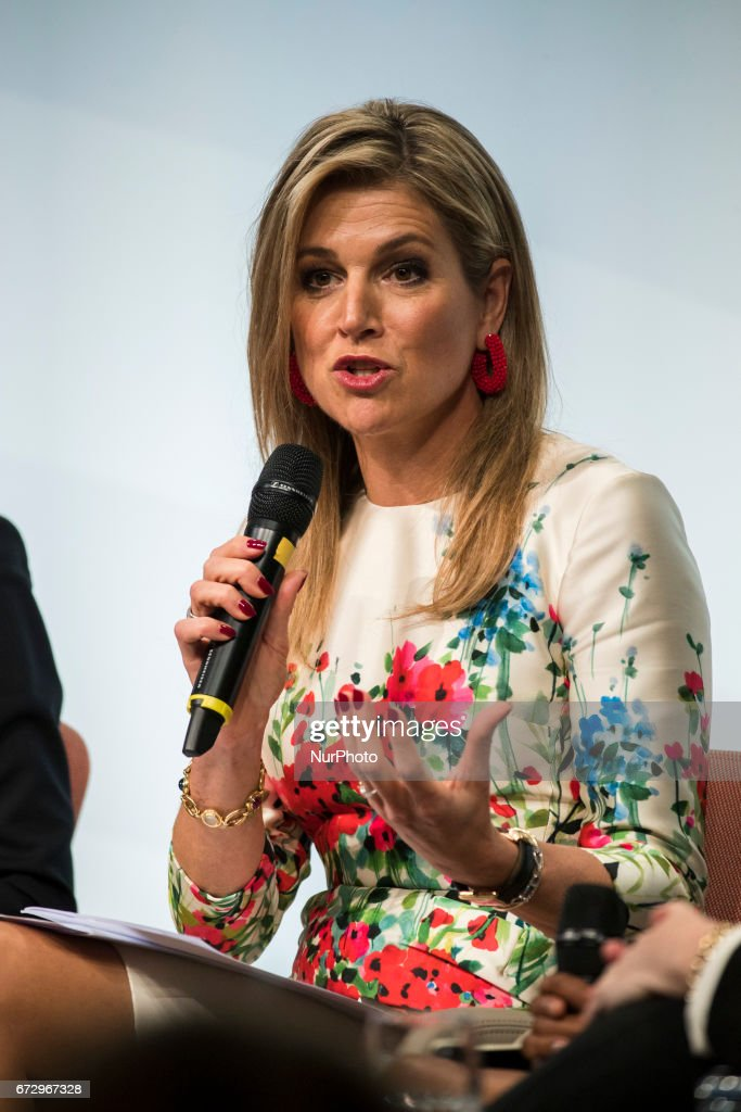 Queen Maxima of the Netherlands is pictured during the Woman 20 Summit in Berlin, Germany on April 25, 2017. The event, which is connected to the G20 under the German leadership is dedicated to Women's Economic Empowerment and Entrepreneurship.