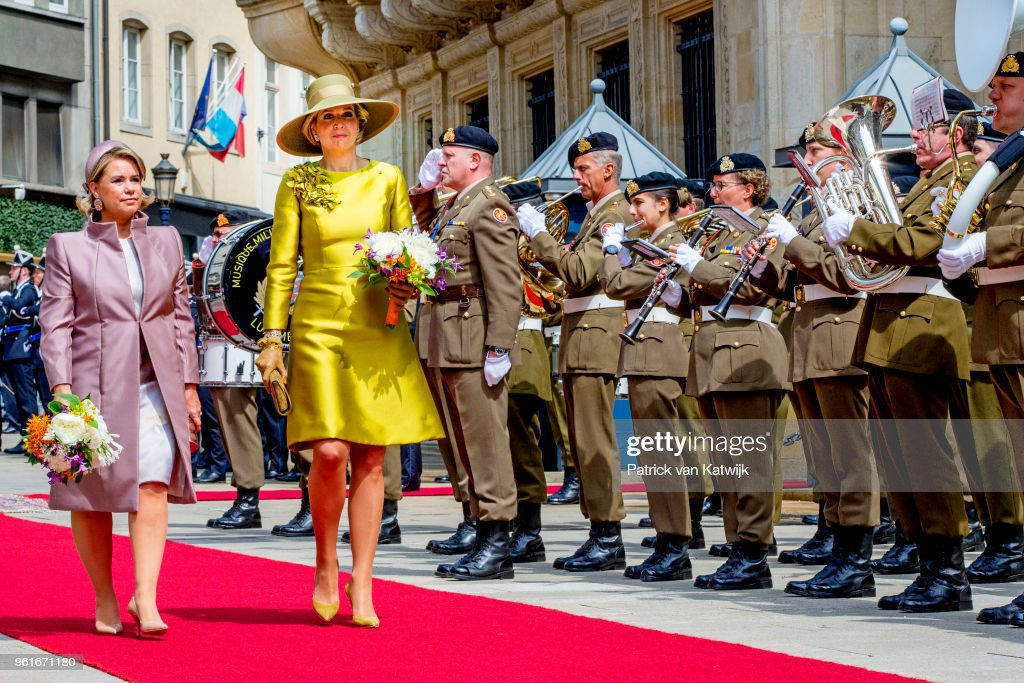King And Queen Of The Netherlands Visit Luxembourg