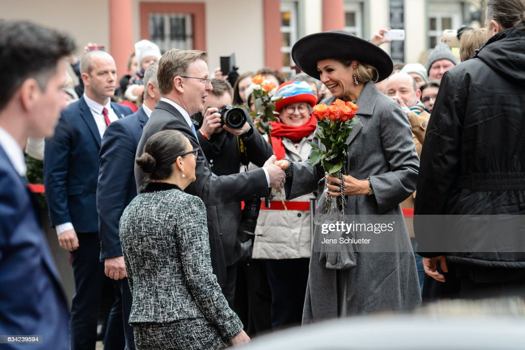 King Willem-Alexander And Queen Maxima Of The Netherlands Visit Thuringia - Day 2 : News Photo