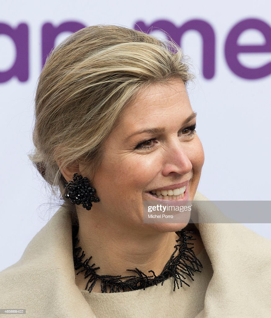 Queen Maxima Of The Netherlands Kicks Off Week Of Money 2015 : News Photo