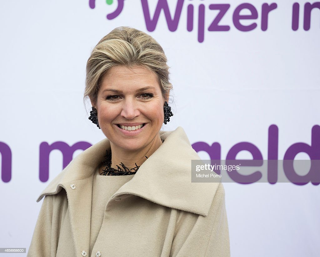 Queen Maxima Of The Netherlands Kicks Off Week Of Money 2015 : News Photo