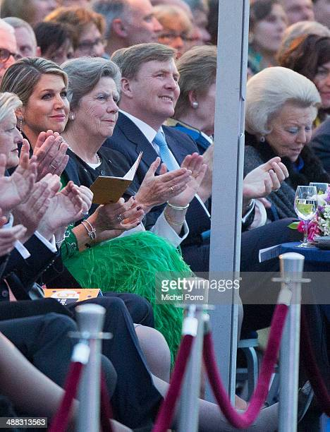 Queen Maxima of The Netherlands King WillemAlexander of The Netherlands and Princess Beatrix of The Netherlands attend the Freedom Concert on May 5...