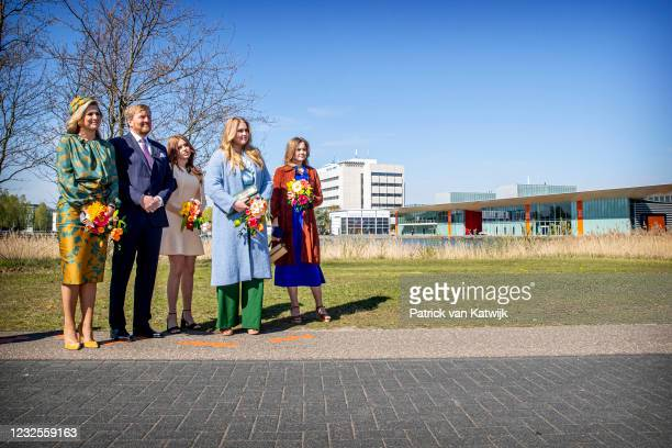 Queen Maxima of The Netherlands, King Willem-Alexander of The Netherlands, Princess Alexia of The Netherlands, Princess Amalia of The Netherlands and...