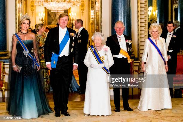 Queen Maxima of The Netherlands, King Willem-Alexander of The Netherlands, Queen Elizabeth II, Prince Charles, Prince of Wales and Camilla, Duchess...