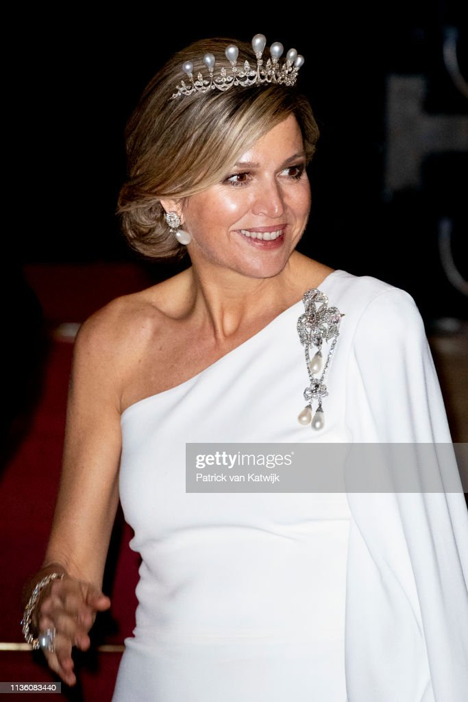 Dutch Royal Family Attends A Gala Diner For Corps Diplomatique At Royal Palace In Amsterdam : News Photo