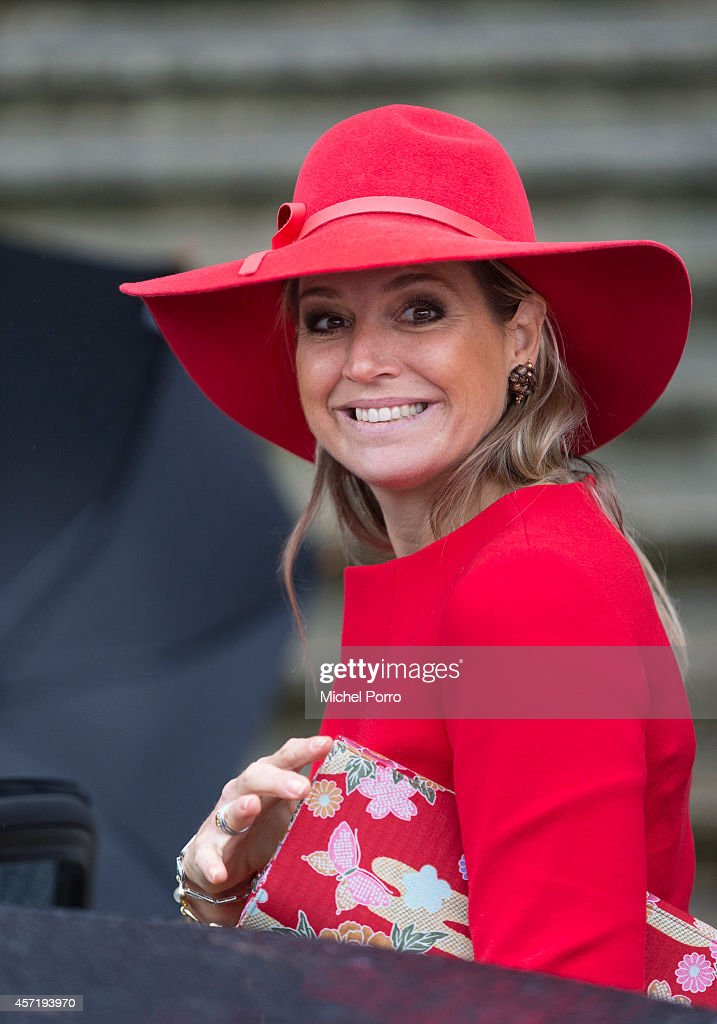 Queen Maxima Of The Netherlands Attends Symposium 40 Years Protection Domestic Violence : News Photo