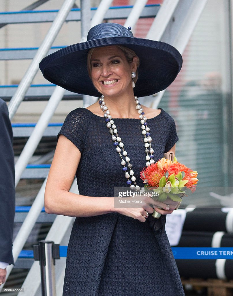 Queen Maxima Of The Netherlands Baptizes Cruise Ship MS Koningsdam : News Photo