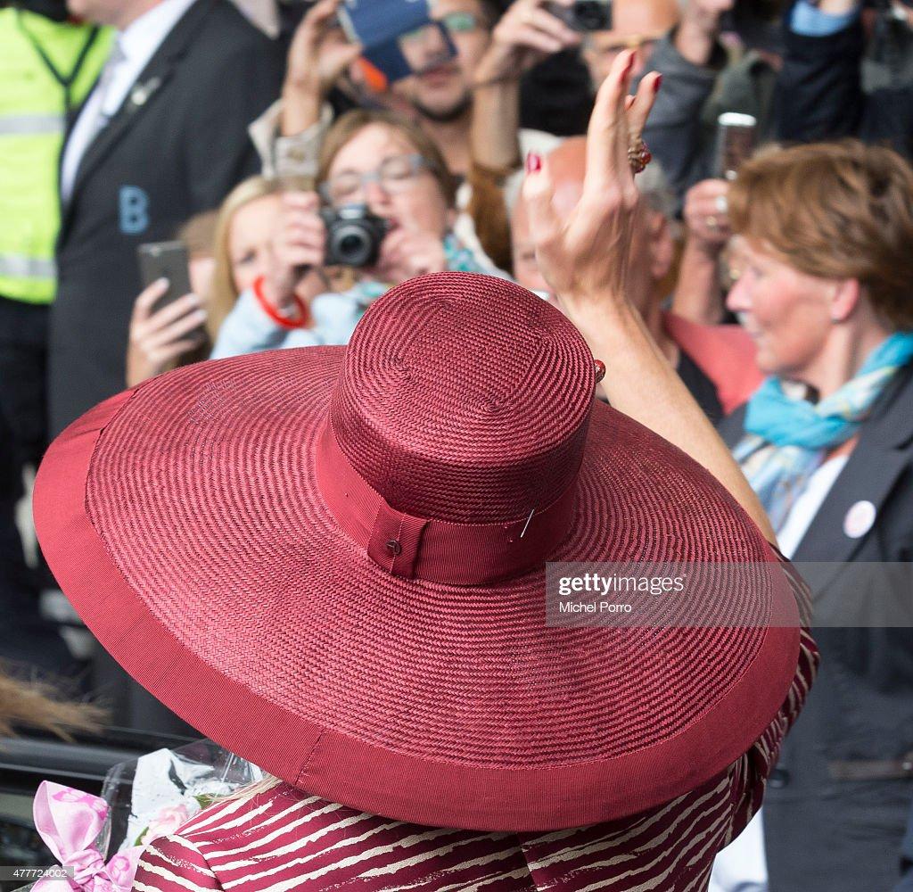 Queen Maxima Of The Netherlands Opens Design Derby Netherlands - Belgium : News Photo
