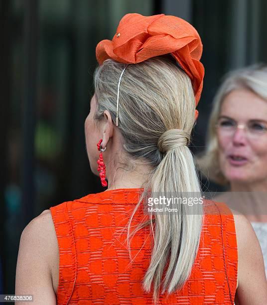 Queen Maxima of The Netherlands leaves after opening the Juliana Kinderziekenhuis on June 12 2015 in The Hague Netherlands