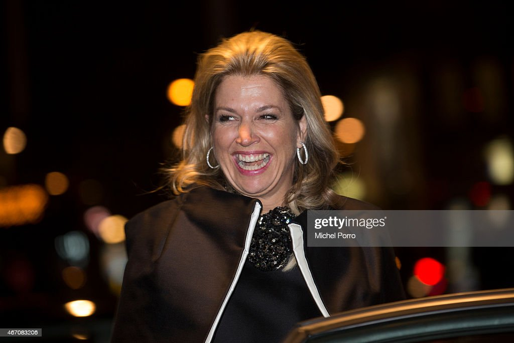 Queen Maxima of The Netherlands leaves after the final concert of Latvian conductor Mariss Jansons with the Royal Concertgebouw Orchestra on March 20, 2015 in Amsterdam, The Netherlands.