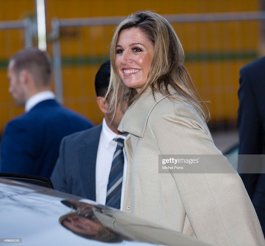 Queen Maxima of The Netherlands leaves after the presentation of the Dutch Sustainable Growth Report on December 2, 2014 in Amsterdam The Netherlands.