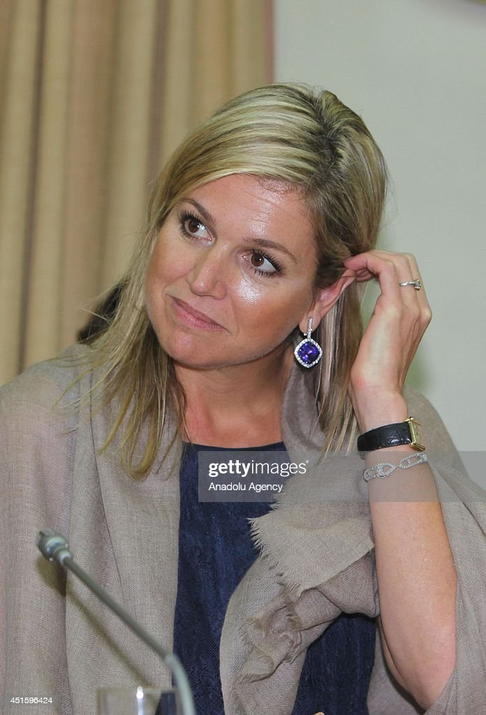 Queen Maxima of The Netherlands in Mumbai : News Photo
