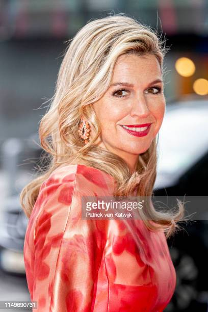 Queen Maxima of The Netherlands on June 13, 2019 in Dublin, Ireland. The King and Queen of The Netherlands are in Ireland for an three day state...