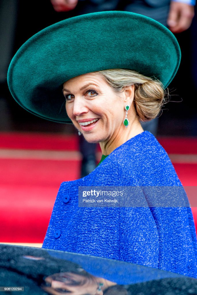 Queen Maxima of The Netherlands opens the bio Fair on January 17, 2018 in Zwolle, Netherlands.