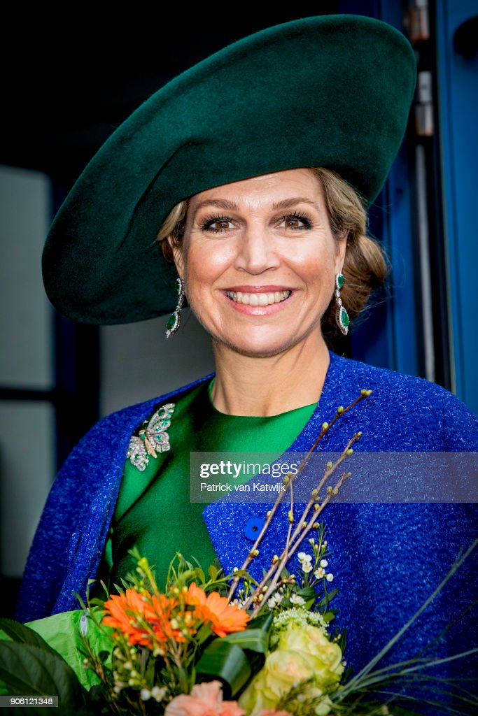 Queen Maxima Of The Netherlands Opens Bio Fair In Zwolle