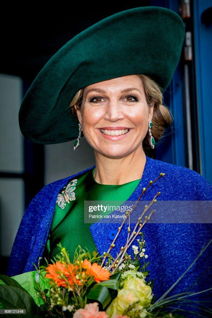 Queen Maxima Of The Netherlands Opens Bio Fair In Zwolle