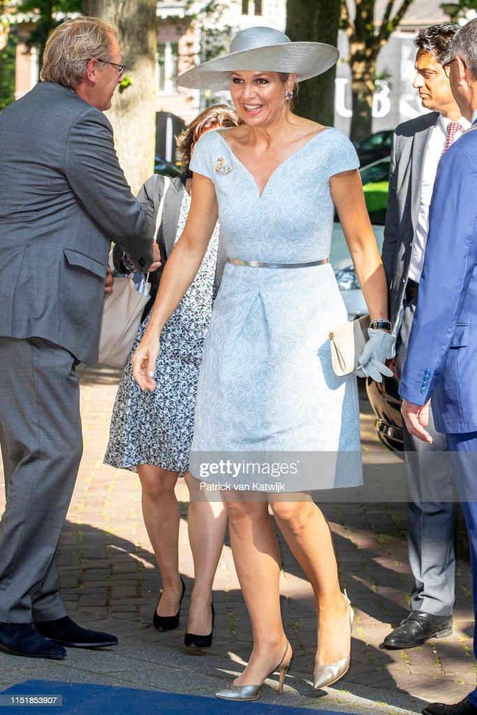Queen Maxima Visits Money Exhibition In Rotterdam : News Photo