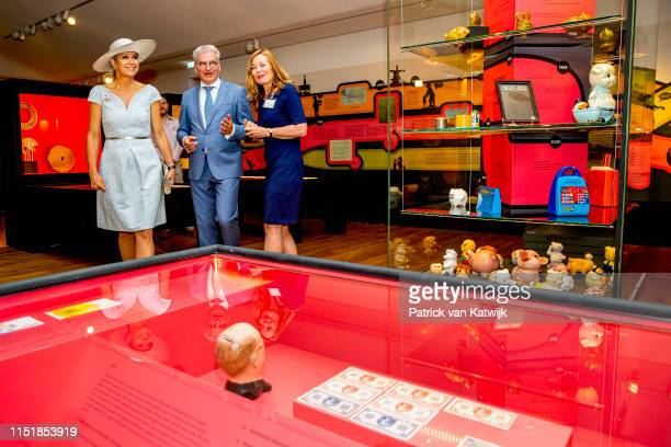 Queen Maxima of The Netherlands opens the exhibition Crazy about Money at the Tax museum on June 25 2019 in Rotterdam Netherlands