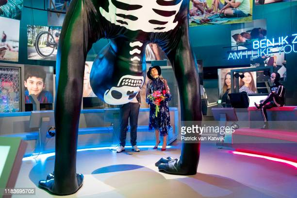 Queen Maxima of The Netherlands opens the exhibition Humania in Nemo Science Museum on November 20 2019 in Amsterdam Netherlands Humania is a new...