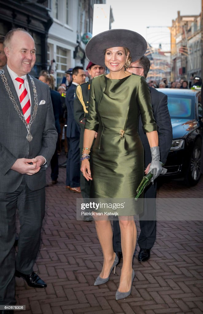 "Queen Maxima Of The Nederlands Opens ""A Royal Paradise"" Exhibition In Dordrecht Museum : News Photo"