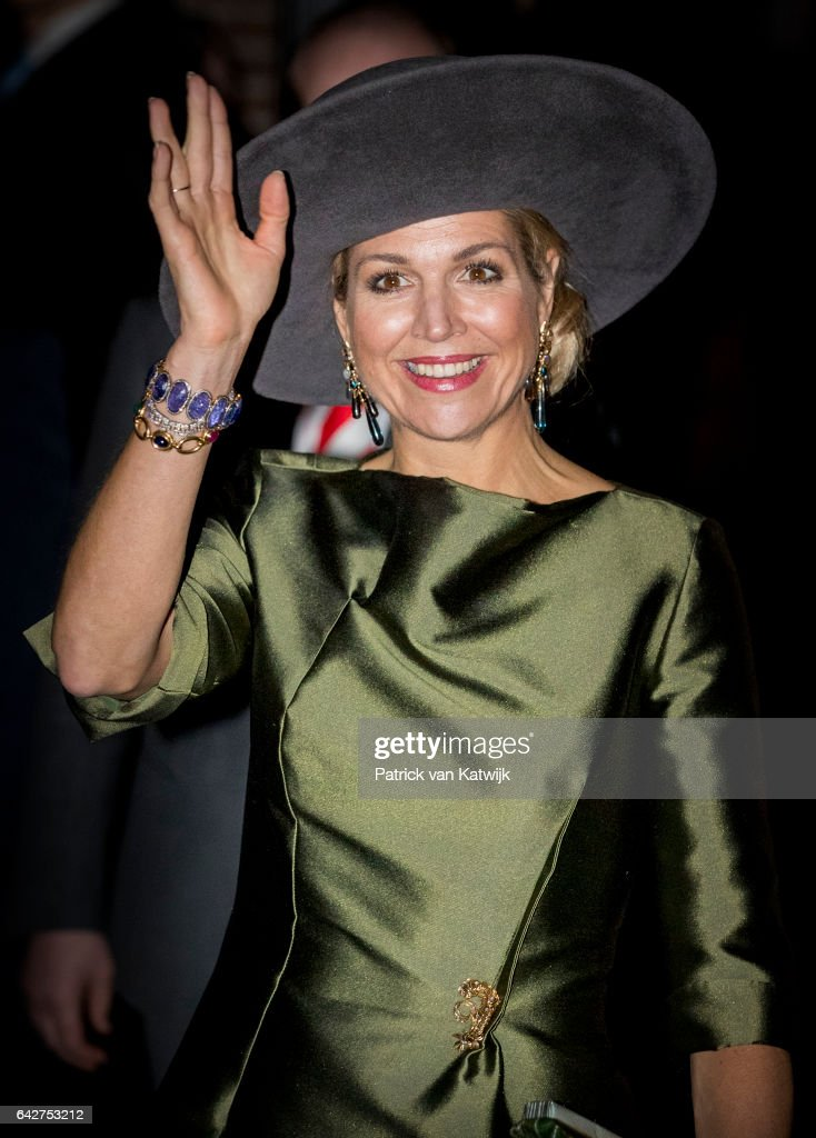 """Queen Maxima Of The Nederlands Opens """"A Royal Paradise"""" Exhibition In Dordrecht Museum : News Photo"""