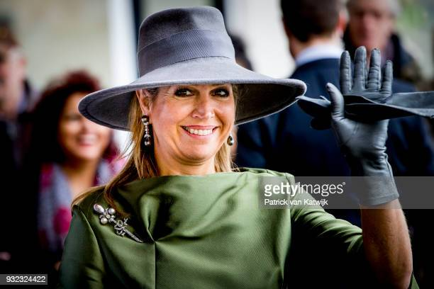 Queen Maxima of The Netherlands opens the Expertise Center for Endometriosis in Balance at HMC Bronovo Hospital on March 15 2018 in The Hague...