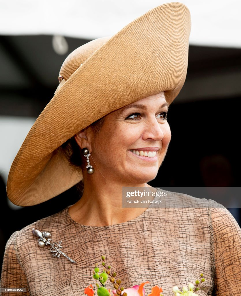 Queen Maxima Of The Netherlands Opens Green Minerals Plant Garden In Beltrum : News Photo