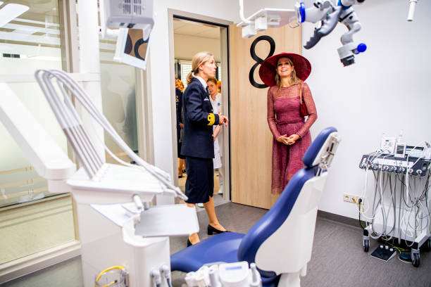 NLD: Queen Maxima Of The Netherlands Opens Military Hospital In Utrecht