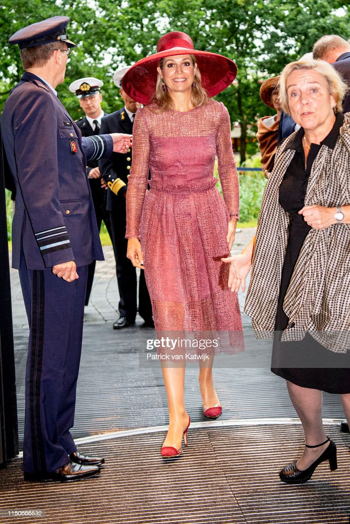 Queen Maxima Of The Netherlands Opens Military Hospital In Utrecht : News Photo