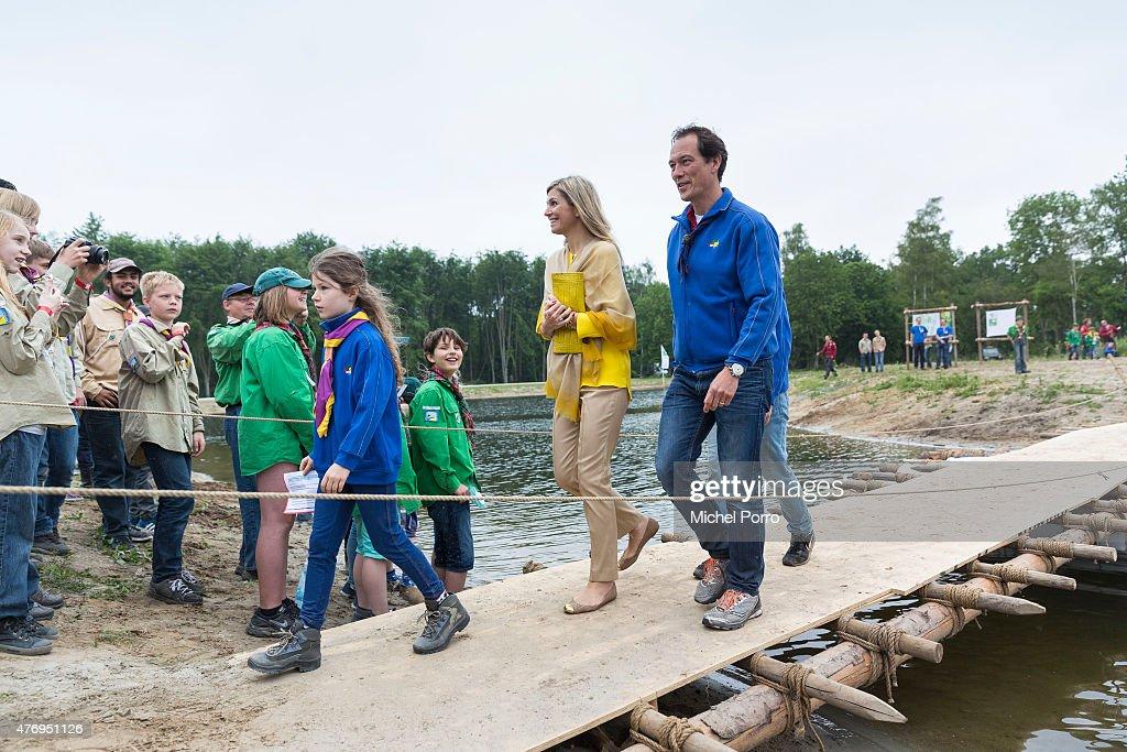 Queen Maxima Of The Netherlands Opens Scouting Estate Zeewolde : News Photo
