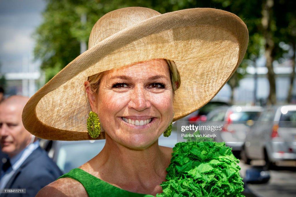 Queen Maxima Opens Supersteet Children Exhibition At World Museum In Rotterdam : ニュース写真